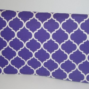 Coupon Organizer Cash Budget Organizer Holder- Attaches to your Shopping Cart  - Quatrefoil Purple