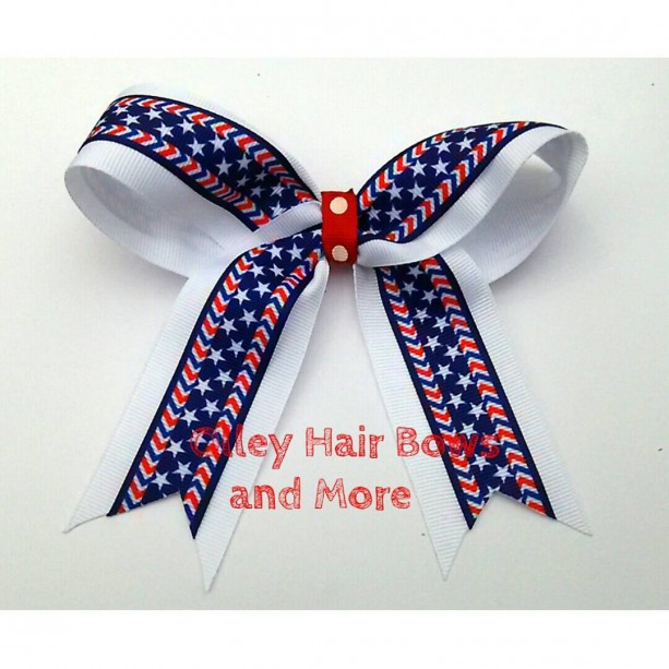 4th of july cheer hair bow 4th of july bow hair bow