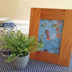 "Handcrafted Hardwood 5"" x 7"" Picture Frame"
