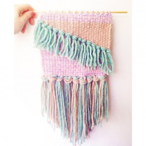 A Hand Woven Pastel Wall Hanging / Tapestry