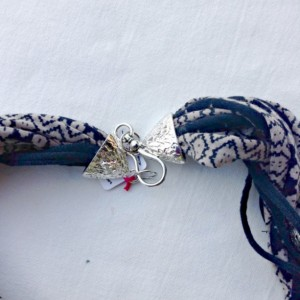 T-Shirt Yarn Necklace, Fabric Necklace, Textile Jewelry