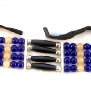 Buffalo Horn/China Jade Choker-style Bracelet  , Handmade, Native American Inspired