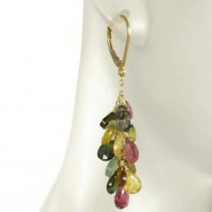 Tourmaline Earrings, Bridal Earrings, Gemstone Earrings, Healing Earrings, Leverback Earrings, Bridesmaid Earrings, Birthstone Earrings