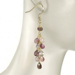 Spinel Cluster, Spinel Earrings, Gemstone Earrings, Healing Earrings, Cluster Earrings, Bridal Earrings, Bridesmaid Earrings,