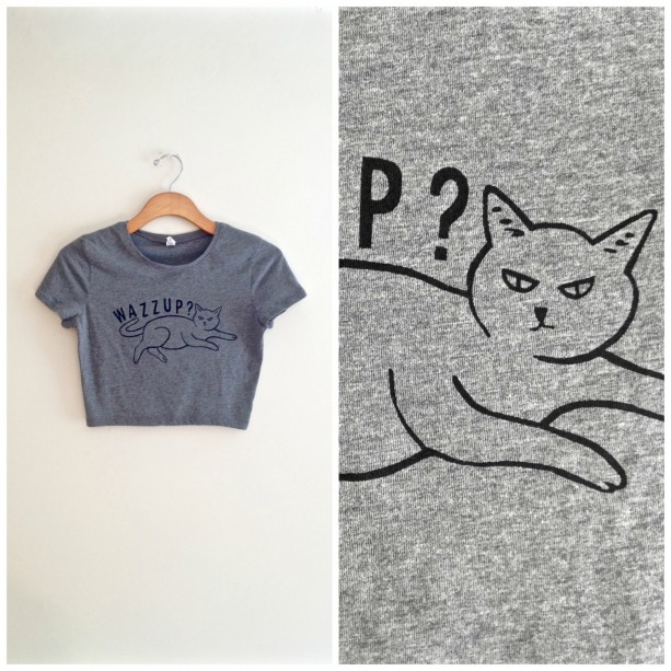 c020a3d6 Gray black cat shirt, cat crop top, funny cat shirt, tee, crazy c ...