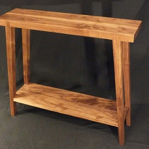 Walnut Hall Table -Splayed Legs - custom furniture