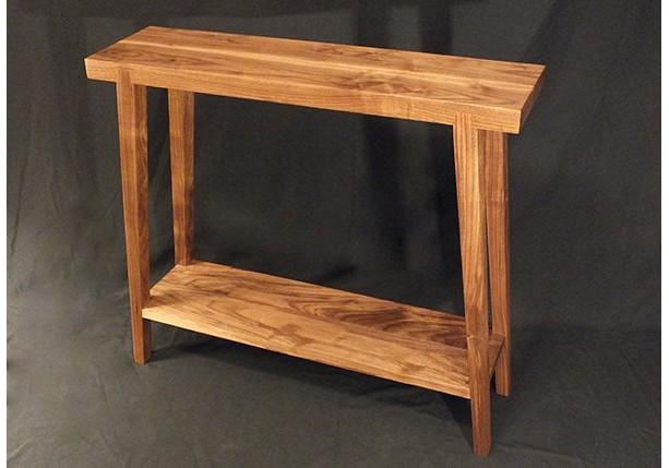 Walnut Hall Table  Splayed Legs   Custom Furniture