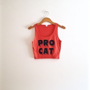 Black pink salmon cat crop tank top, yoga clothes, hipster shirt, tshirt, cat tank top, teen girl, gift for cat lover, cool cat shirt