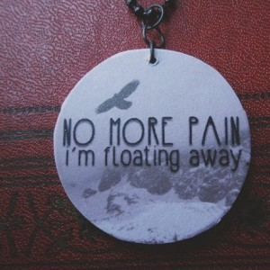 No More Pain / Pale / Within Temptation /  Crow / Winter / Snow / Wooden Pendant / Ball Chain / Digital Art Pendant