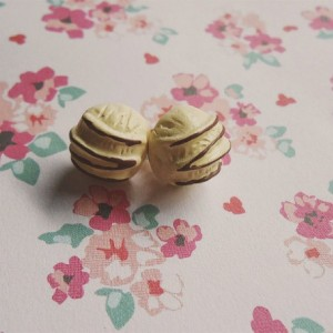 Kawaii / Vanilla Ice Cream / Sweet Lolita / Stud / Earrings
