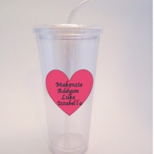 Personalized Mother's Day Tumbler with kids names. Mother's Day, Birthdays, Holidays-Glass, Cup, Bottle, Kids, Family, Love 16 oz.
