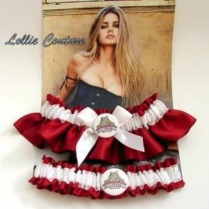 Wedding Garters Lingerie set football garters Custom bride sports garters