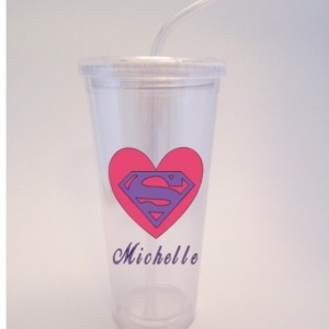 Personalized Mother's Day Superpower Tumbler with lid & straw -Add a Personalized Name option- Mother's Day, Birthdays, Holidays, mom 16 oz.