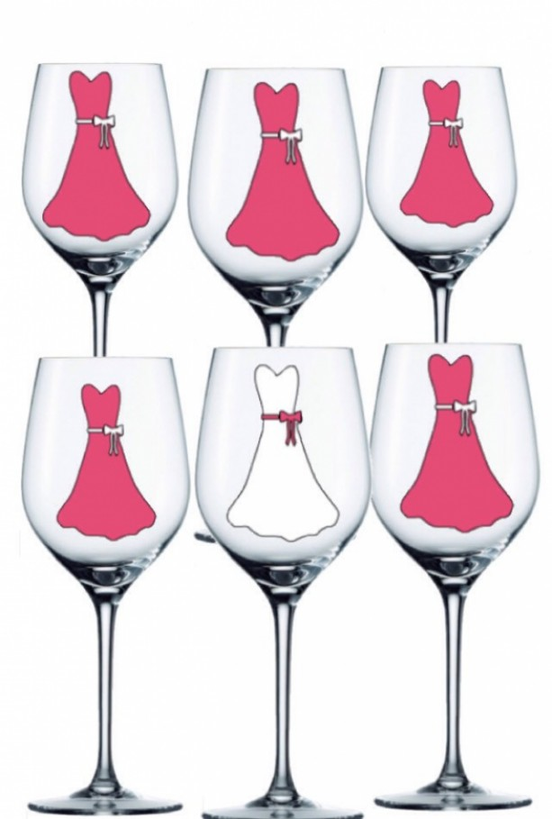Personalized Bridesmaid Glasses Set Of 6 Personalized Wedding W