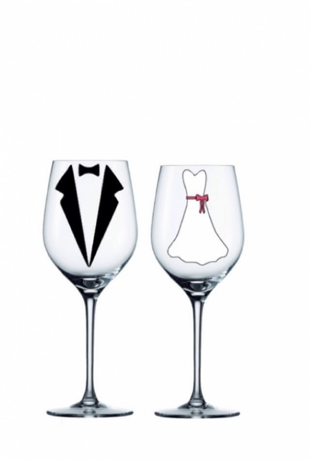 Attractive Bride & Groom Personalized Glasses set of 2- Personalized Wedding  QG08