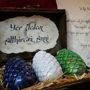Dragon Eggs, Game of Thrones, Pern, The Hobbit, Fantasy, custom made, dragon chest, dragon, gift, khaleesi, smaug, mother of dragons