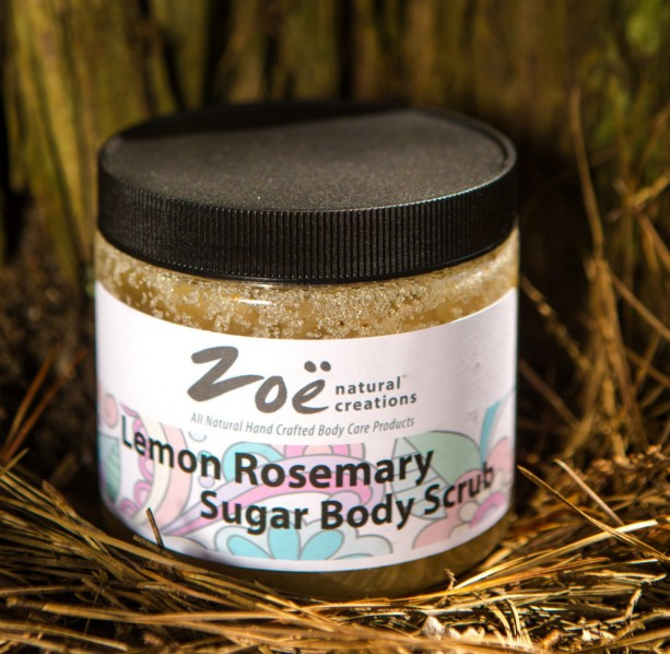 Lemon Rosemary Sugar Body Scrub