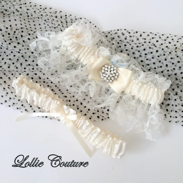 Couture Garters For Wedding: Lace Wedding Garters Lingerie Romantic Bride To Be Simple