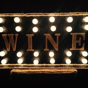 Lighted Gold & Black Wine Marquee Sign  (Handcrafted Original)