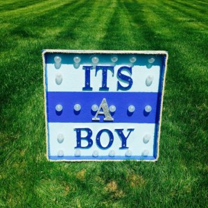 Its a Boy! Lighted Blue Marque Sign (Baby Shower) (Boy) (Handcrafted)