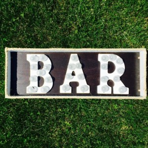 Lighted Bar Marquee Sign (Handcrafted Original)