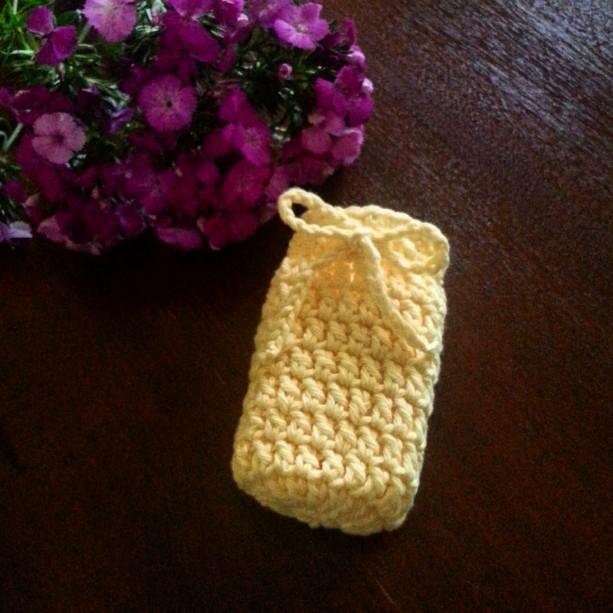 Yellow Crochet Soap Saver /Spa Cloth