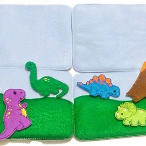 Dinosaur activity play set mats 4 pages