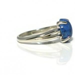 Lapis Lazuli Ring, Denim Lapis, Lapis Lazuli, Solitaire Ring, Statement Ring, Birthstone Ring, Gemstone Ring, Healing Ring, Stackable Ring