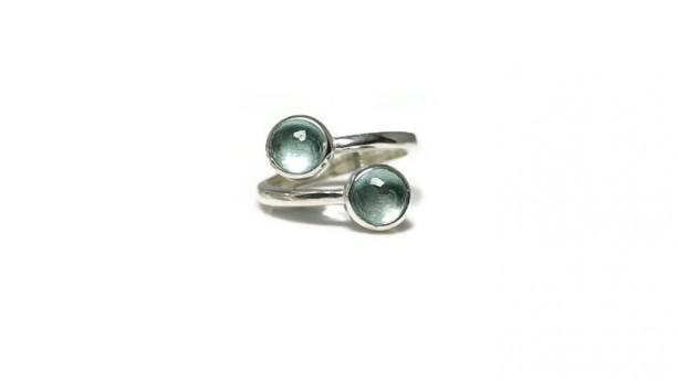 Blue Topaz Ring, Topaz Ring, Multistone Ring, Gemstone Ring, Birthstone Ring, Adjusable Ring, Stackable Ring, Healing Ring, Statement Ring