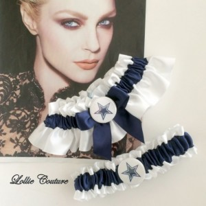 Wedding Garters Bride Groom toss Cowboys Football Theme Wedding Garters