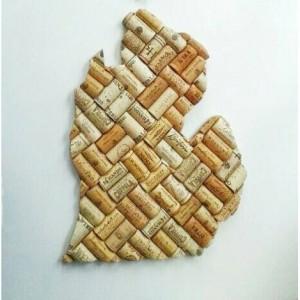 Michigan wine cork decor | house warming gift | wine gifts | wine cork  crafts | wedding gift | Michigan cut out | Michigan art