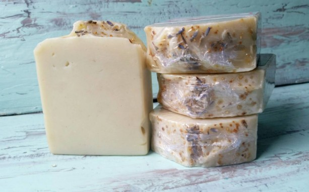Lavender & Sweet Orange - All Natural Coconut Milk Soap with Essential Oils and Bentonite Clay