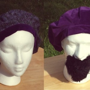 Grand Opening Sale!!!! Purple Velveteen unisex reversible hat