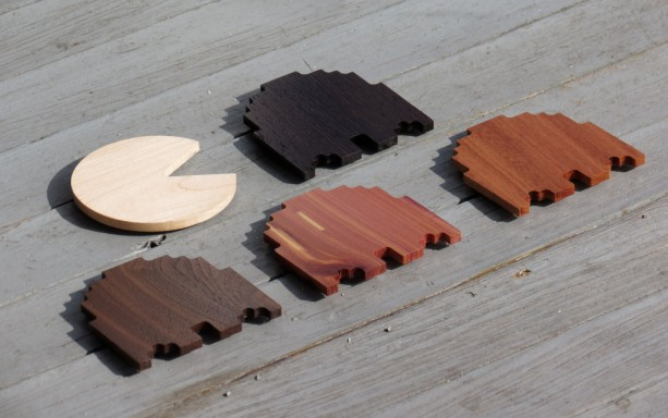 Solid Hardwood Video Game Coasters - Ghosters