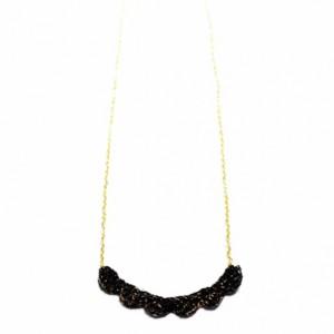 Black & Gold Scallop Pendant