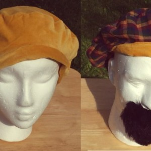 Grand Opening Sale!!!! Velveteen unisex reversible hat