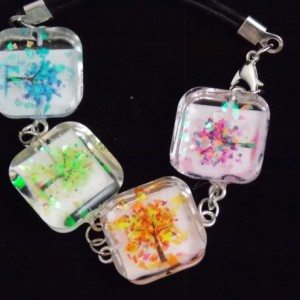 Four season themed resin bracelet