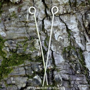 Silver Hair Sticks - Nickel Silver - Tiny Circles - Set Of 2 Hand Forged Minimalist Metal Hair Sticks - Haar Stick - Alpaca - Two Feathers