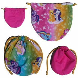 Grand Opening Sale!!!! My Little Pony Bag (Pink Lining, Gold Cord)