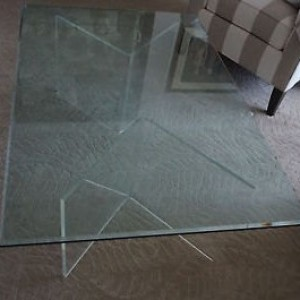 Lucite/Acrylic V-Table