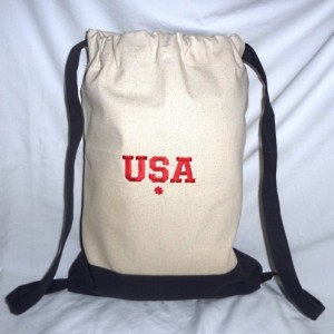 Back to School Backpack ~ USA Embroidery (Both Sides)