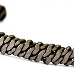 Niobium Double Helix Men's Cuff Bracelet