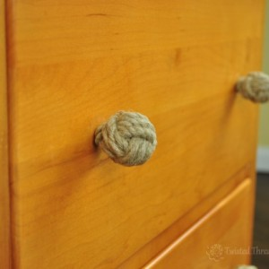 1 Pair Hemp Rope Monkey Fist Drawer Pulls – Natural Rope Cabinet Knobs – Rustic Decor