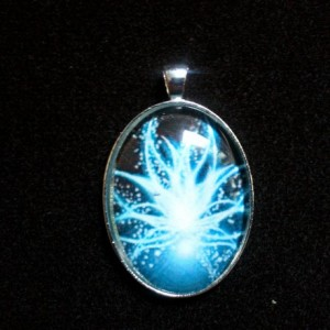 Blue Star Flower Silver Pendant
