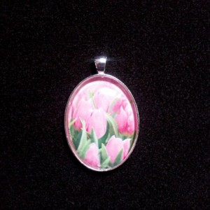 Pink Rose Silver Pendant