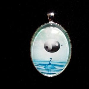 Yin Yang Drop Silver Pendant