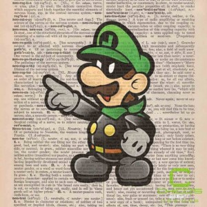 Masked Luigi Dictionary Page Print