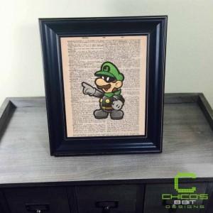 Masked Luigi Dictionary Page Print