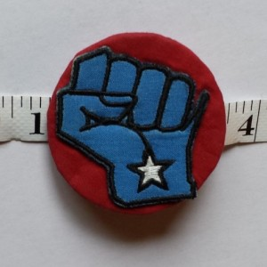 "Grand Opening Sale!!!! Solidarity Fist Pin (2.5"")"