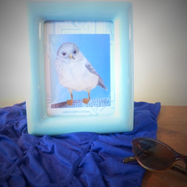 Art Deco Seagull Collage Art Print